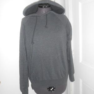 forever 21 basic charcoal hoodie
